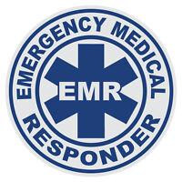Emergency Medical Responder Emr Large Round Reflective Firefighter Decal Sticker