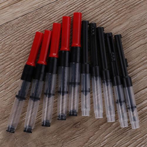 5 X Universal fountain pen ink converter standard push piston fill inkabsorberHM