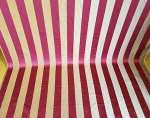 Designer-Brocade-Jacquard-Fabric-Burgundy-Upholstery-striped-fabric-58-034