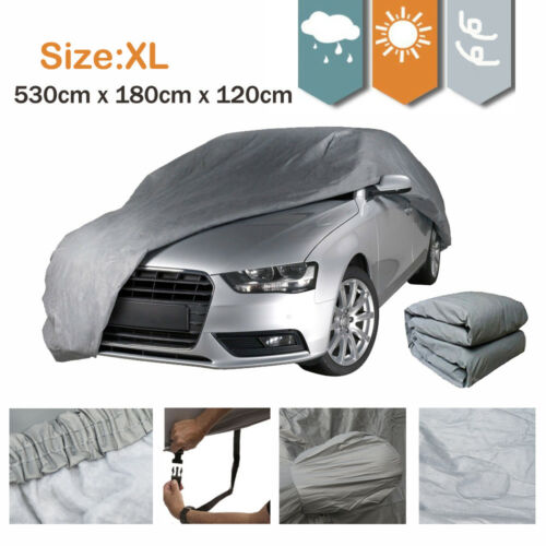 Waterproof Size XL 2 Layer Full Car Cover Breathable UV Protect Indoor Outdoor