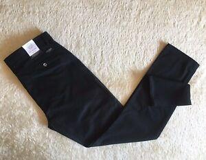 BNWT-Mens-Ben-Sherman-EC1-Chino-Slim-Stretch-Trousers-Pants-Black-Size-38x34