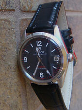 Tudor by ROLEX, 34mm w/BLACK DIAL, QSet, Keeps Perfect Time