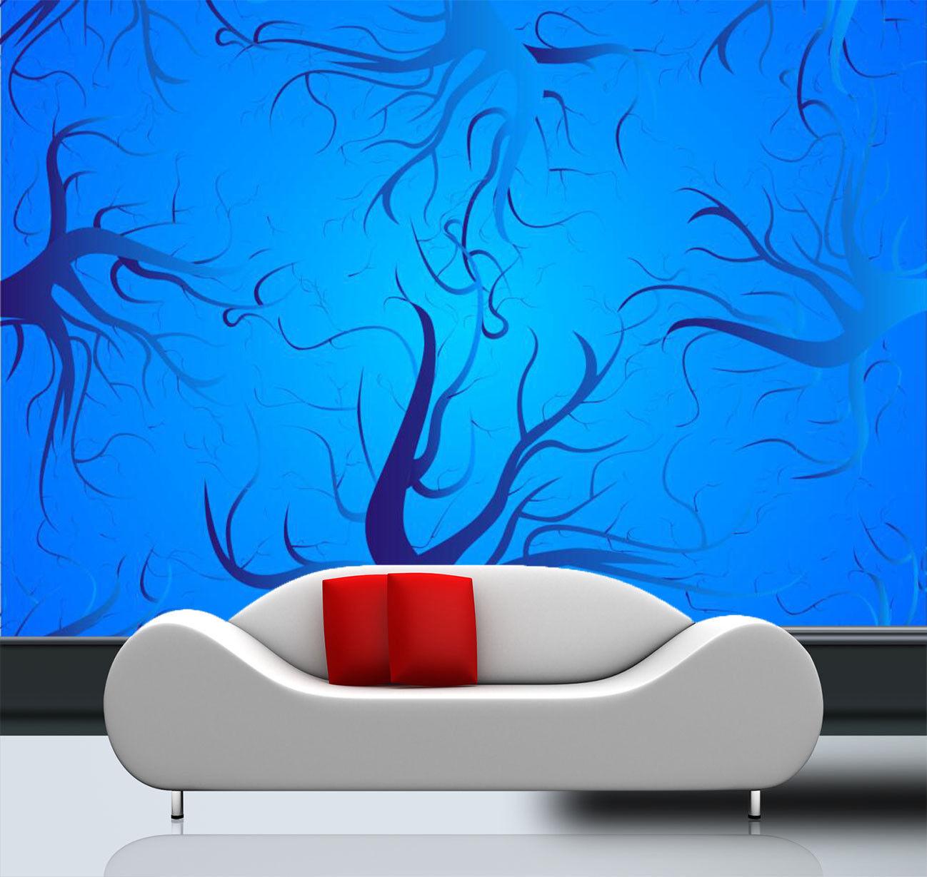 3D Baum Malerei Muster 9083 Tapete Wandgemälde Tapeten Bild Familie DE Kyra