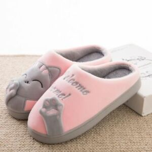 05271229330 FUNNY Cute Cozy Cat Paw Slippers Women Home Warm Winter Slippers ...