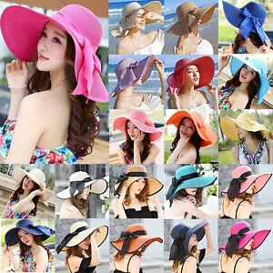 f15c7f1e Image is loading Fashion-Summer-Women-Girl-Wide-Brim-Bucket-Beach-