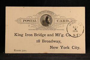 New-York-Hubbs-1891-Postal-Card-Now-Clifton-Park-RARE-RARE-DPO-Saratoga-Co