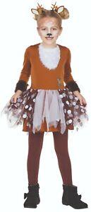 Rubies 12343 - Rehkitz Kinder Tier Kostüm, Reh Bambi, Gr. 104 - 140