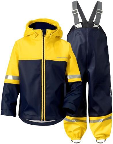 Didriksons Waterman Kids Waterproof Set PU Jacket /& Trousers Durable