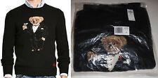 new Polo Ralph Lauren Tuxedo Martini Teddy Bear wool sweater, mens, M, MSRP $395