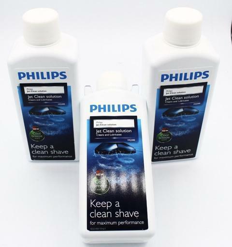 Philips HQ20350 Vorteilspack (33,17 L) 3 Flaschen HQ200 Jet Clean Solution
