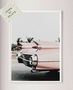 Pink-Designer-vintage-car-photography-art-wall-print-home-decor-fashion