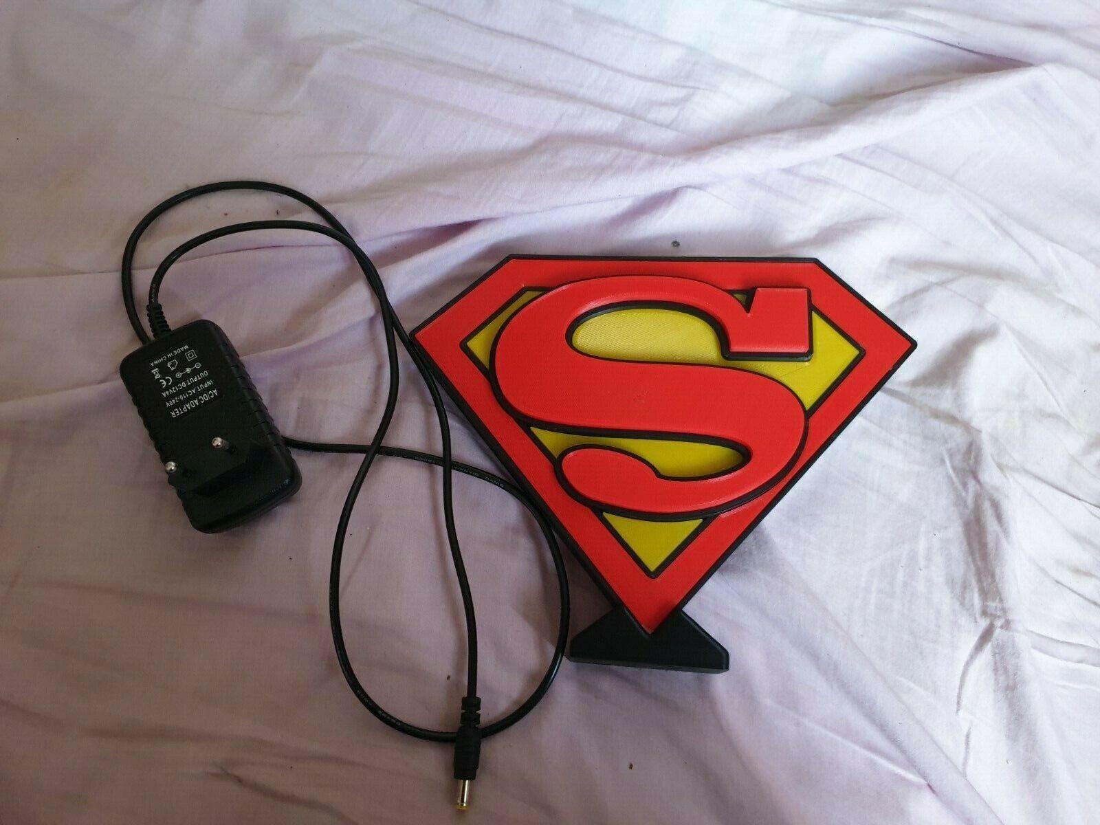 logo led superman 12 volts