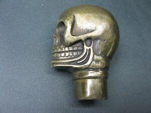 Gehstock Skull Totenschädel Bronzeeffekt Spazierstock Stock Fantasy Gothic