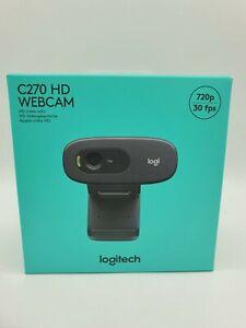 Logitech C270 HD Webcam Kamera Cam 720p 30 fps Schwarz Skype Zoom Call NEU OVP