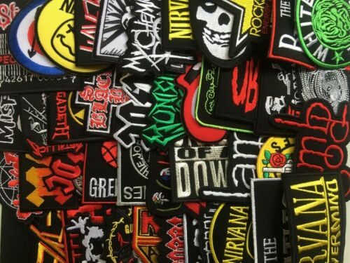 PROMOTION RANDOM Lot Iron On Patch Wholesale Music Band Metal Punk Rock n Roll