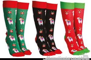 Sock Society Xmas LLama Funny Novelty Socks One Size Unisex Animal Lovers Gift