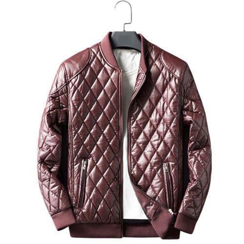 Men Leather Jacket Zipper Casual Warm Winter Plus Coat Velvet Biker Overcoat Hot