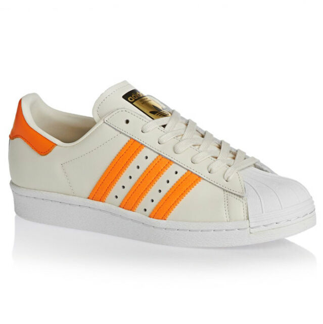 73ae7041221 Adidas Originals Superstar 80S Trainers Shoes Trainers White-Orange
