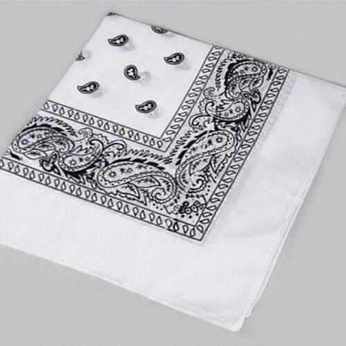 Paisley Bandana Head Wear Cotton Wrap Neck Scarf Hair Wrist band Handkerchief