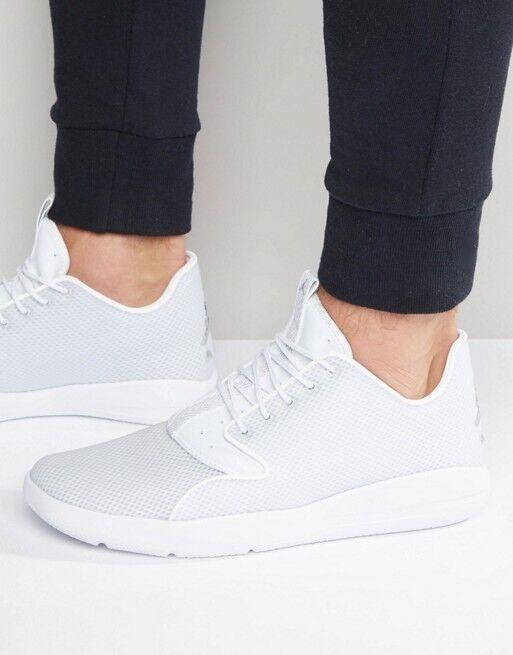 Nike Jordan Eclipse Triple WHITE Platinum Silver sz 7.5 Shoes  724369-100
