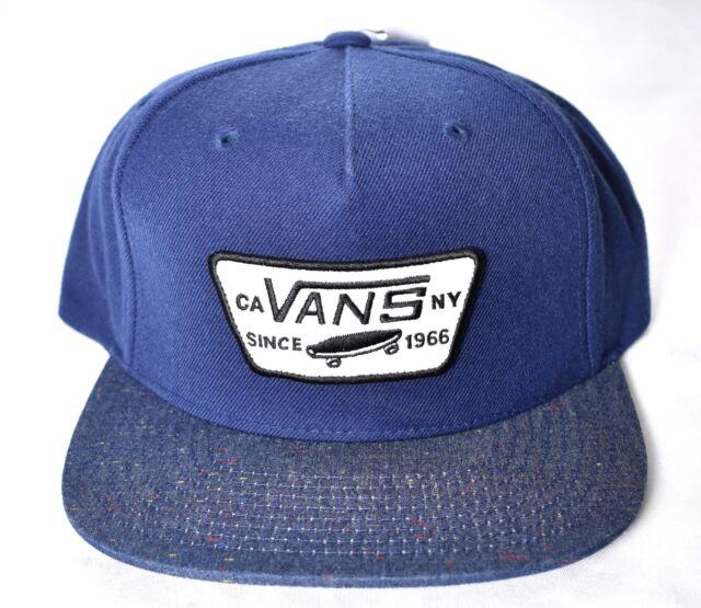 Details about Vans Shoes Mens Mini Full Patch Snapback Hat Black Blue Adjustable Free Ship NWT
