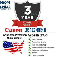 3 Year Warranty +cleaning & Accidental Damage For Canon 1dx Mark Ii / 1dx Mk Ii