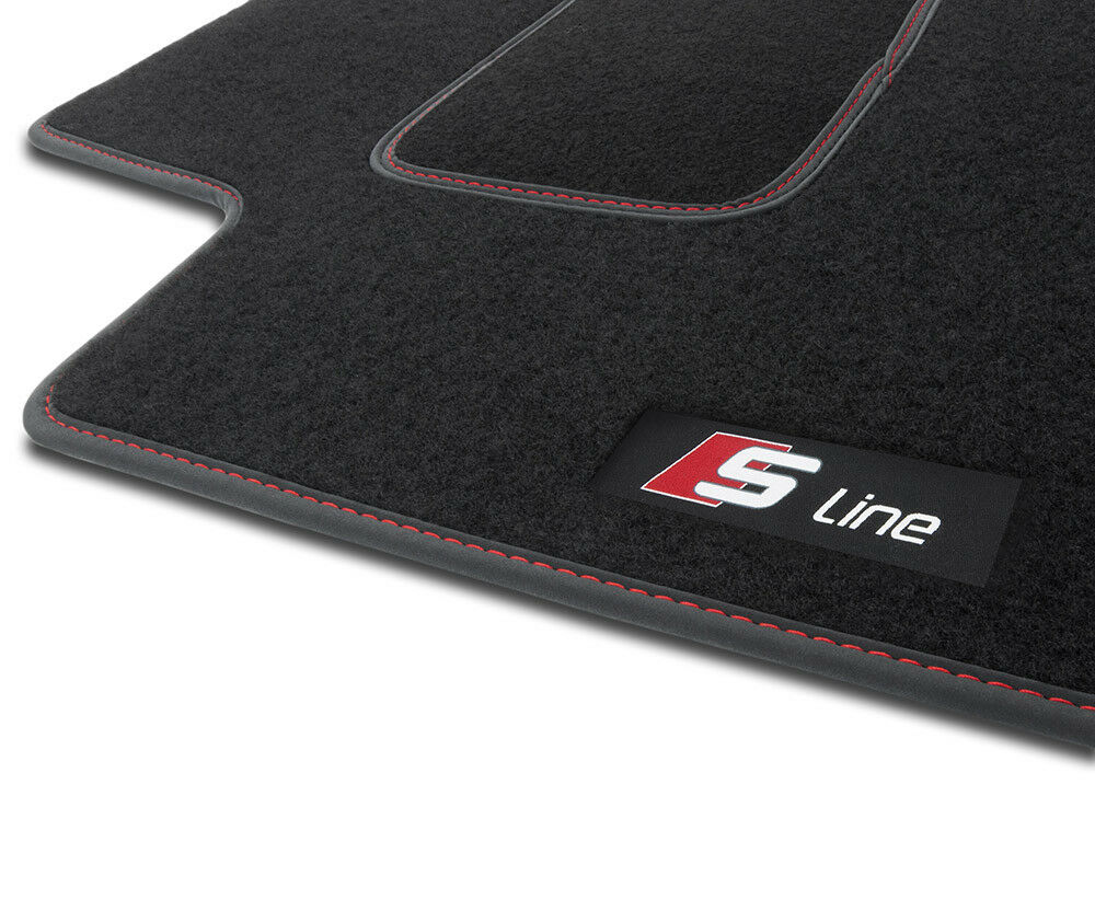 NUOVO Tappetini Audi a1 8x s1 SPORT BACK S-Line Premium Velluto Tappetini Auto Rosso