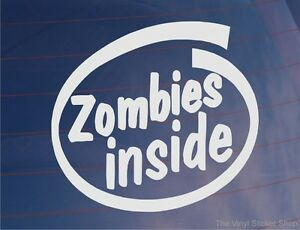 ZOMBIES-INSIDE-Novelty-Funny-Car-Van-Truck-Window-Bumper-Vinyl-Sticker-Decal