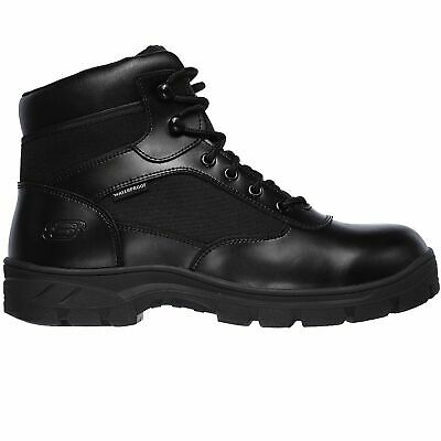 Skechers Mens 77526 Work Relaxed Fit Black Wascana Benen WP Tactical Boots | eBay
