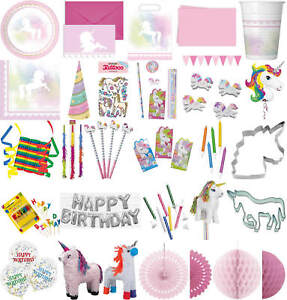 Kinder Geburtstag Party Deko Feier Fete Motto Traum Einhorn Ebay