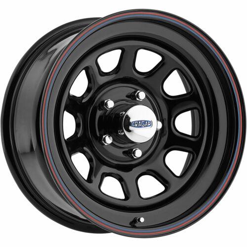 4-17x8 Black Wheel Cragar 342 D Window 6x5.5 0
