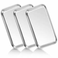 3 Pack Multipurpose Tray Stainless Steel Kitchen Home Bathroom Organizer Serving