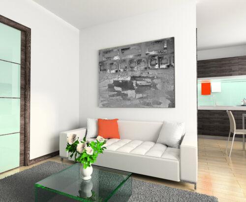 Leinwandbild abstrakt schwarz grau weiß Paul Sinus Abstrakt/_816/_120x80cm