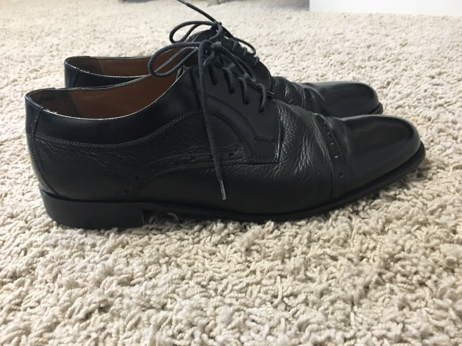 Roberto Villini Mens Cap Toe Oxford Dress shoes 9.5
