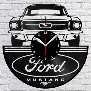 Image Is Loading Ford Mustang Vinyl Record Wall Clock Home Decor