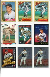 Lot-of-58-Roger-Clemens-Vintage-Baseball-Cards-MLB-Boston-Red-Sox-SHARP