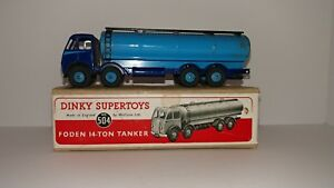 Dinky 504 Foden 14-Ton Tanker Truck 1948-1952 Used Vintage Original W/BOX EXC+
