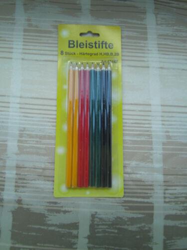 Aktion 8 Bleistifte HB 2B 3Stk Radiergummi gratis B 4 Härtegrade H