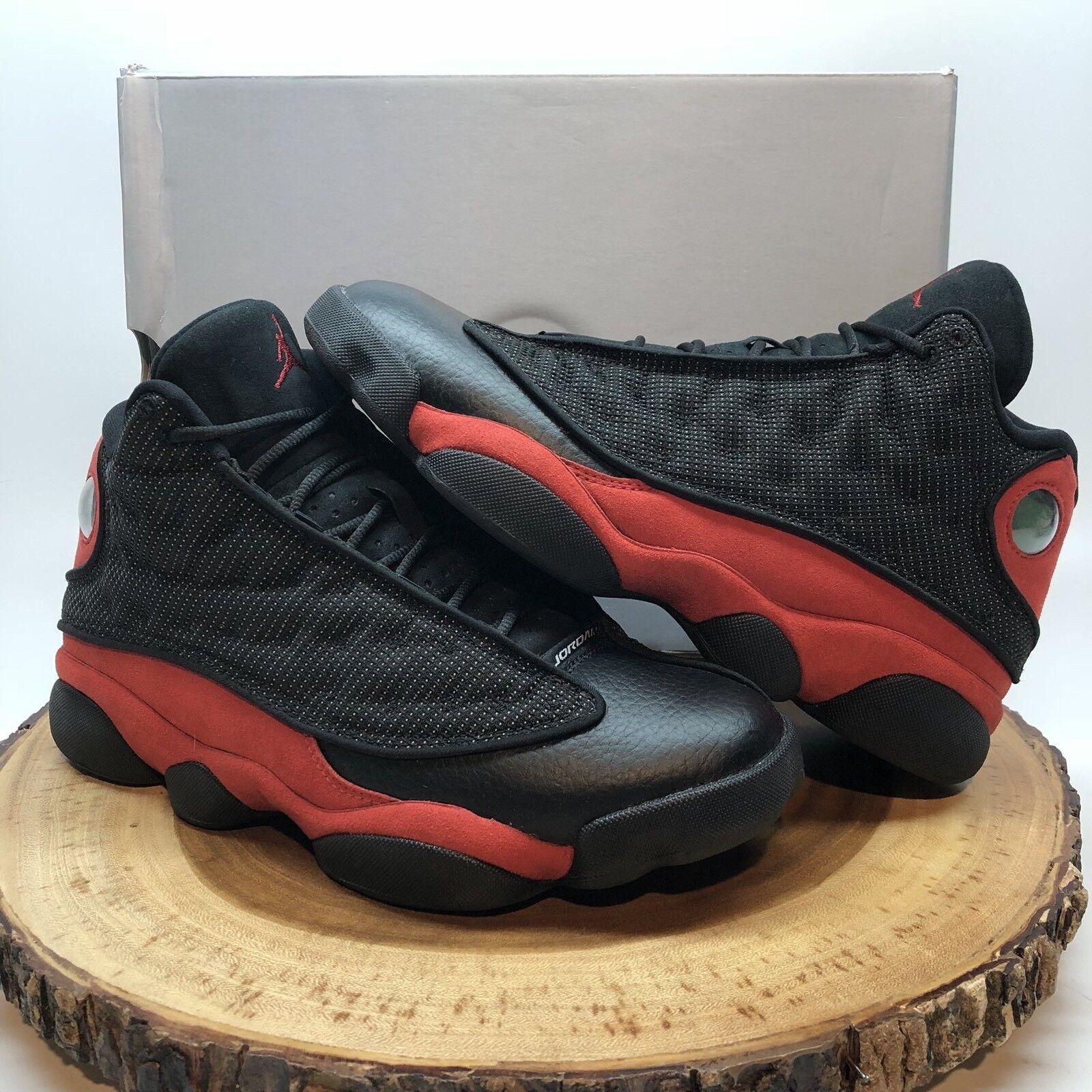 Nike Air Jordan Retro XIII Bred Black Red 3M 414571 004 Comfortable Cheap women's shoes women's shoes