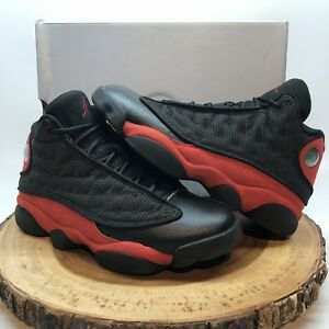 official photos 8ad67 dd730 Image is loading Nike-Air-Jordan-Retro-XIII-Bred-Black-Red-