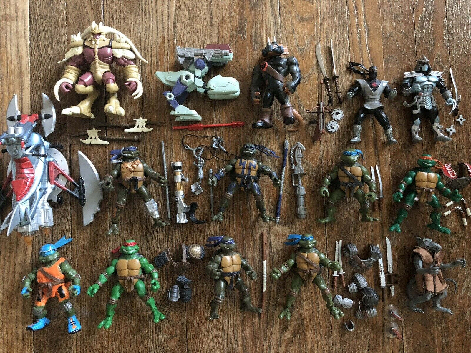 Teenage Mutant Ninja Turtles Figure Lot, 2002, 2005, 2007, Excellent