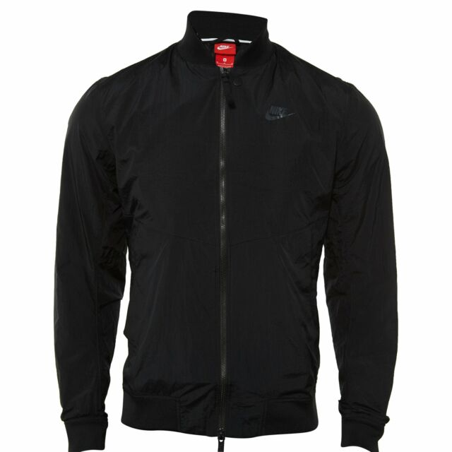 New Mens Nike Sportswear Windrunner Jacket 924515-095 Metallic//Black Size 2XL