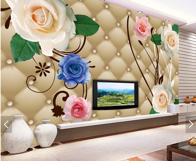 3D Flowers Farbe Layout 54 Paper Wall Print Wall Decal Wall Deco Indoor Murals
