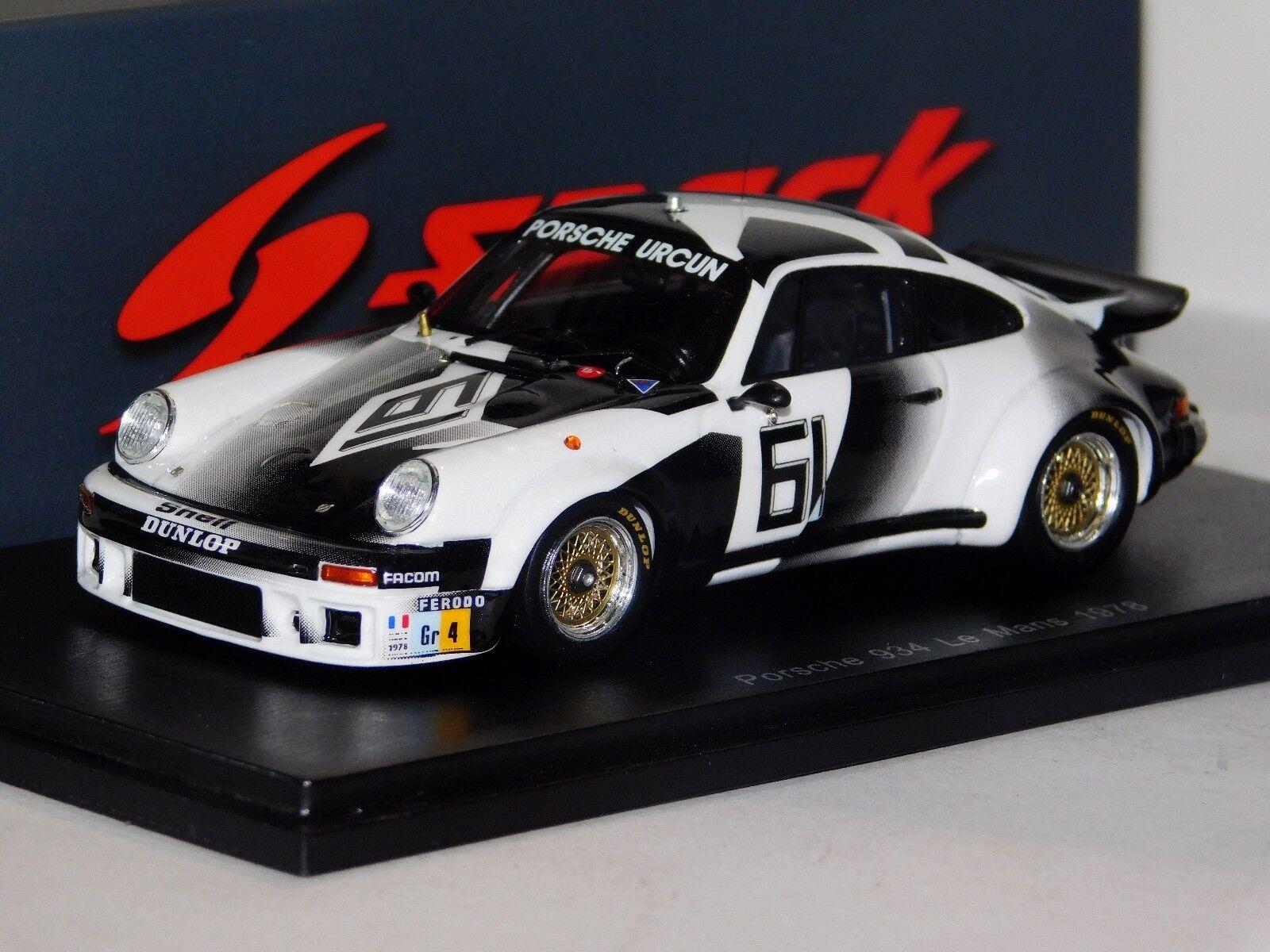 PORSCHE 934  61 Mans 1978 Spark S5091 1 43
