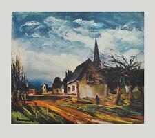 Maurice de Vlaminck Kunstdruck Bild Poster Lichtdruck Dorfstrasse 63x74cm Dorf