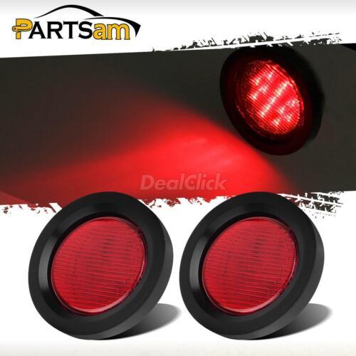 "Flush Mount Red 13 LED 2.5/"" Round Truck Trailer Side Marker Clearance Light"