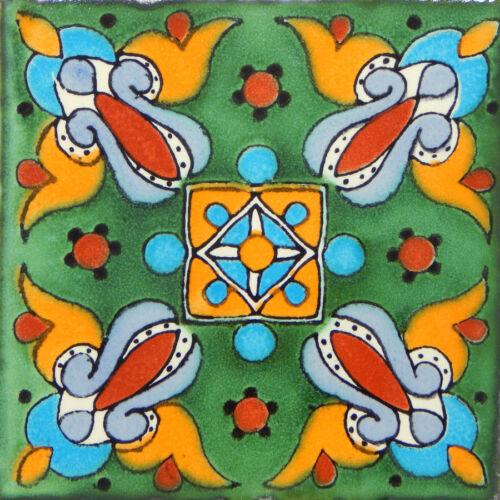 100 Mexican Talavera Decorative Handmade Tiles Folk Art C263