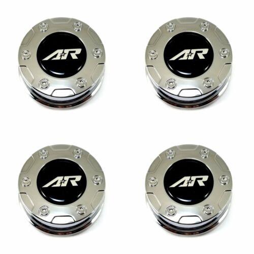 "4x American Racing AR Chrome Center Caps Snap-In 3.26/"" for AR329 AR629 Crush Rim"