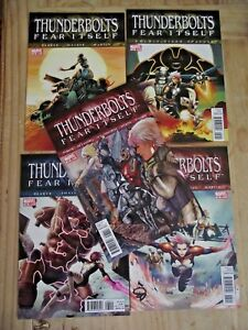 Thunderbolts-158-162-Fear-Itself-complete-VF-NM