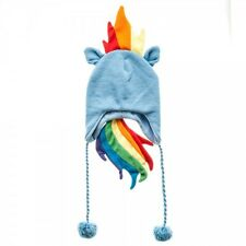 MY LITTLE PONY RAINBOW DASH COSTUME LAPLANDER BEANIE HAT WINTER SKI CAP CARTOON